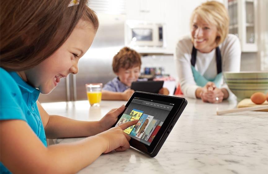 Enfants et tablette